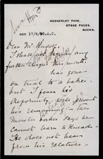 Image of Case 4751 8. Letter from Mrs Stevenson to Edward Rudolf  14 April 1899  page 1