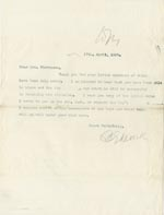 Image of Case 4751 9. Copy of letter from Edward Rudolf to Mrs Stevenson  17 April 1899  page 1