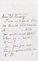 Image of Case 4751 11. Letter from F's employer to Edward Rudolf  11 October 1900  page 1