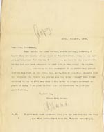 Image of Case 4751 12. Copy of letter from Edward Rudolf to Mrs Stevenson  15 October 1900  page 1
