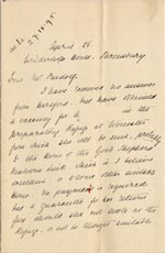 Image of Case 4770 8. Letter to Mr Rudolf  from Mary Butler 26 April 1895  page 1