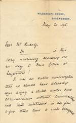 Image of Case 4770 13. Letter to Mr Rudolf from Mary Butler 29 May 1896  page 1