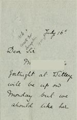 Image of Case 5008 11. Letter from Miss Hall Hall16 July 1896  page 1