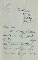 Image of Case 5008 13. Letter from Miss Hall Hall 10 June 1898  page 1
