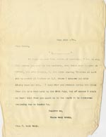 Image of Case 5008 17. Letter to Miss Hall Hall 22 June 1899  page 1