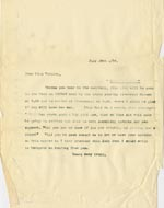 Image of Case 5008 19. Letter to Miss Woolley, Mildenhall Home 19 July 1899  page 1