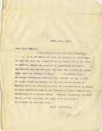 Image of Case 5008 24. Letter to Miss Woolley, Mildenhall Home 24 July 1899  page 1