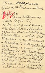 Image of Case 5504 9. Letter from a former employer of C c. 25 April 1906  page 1