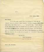 Image of Case 6001 5. Copy letter to Miss Frances Williams about J's condition  21 April 1900  page 1