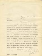 Image of Case 6001 35. Copy letter from Revd Edward Rudolf to Miss Williams  11 June 1909  page 1