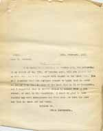 Image of Case 6001 60. Copy letter from Revd Edward Rudolf asking what happened to J.  27 February 1915  page 1