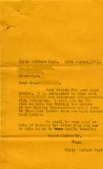 Image of Case 6024 19. Copy letter to Mrs B. acknowledging her letter of 24 August  29 August 1941  page 1
