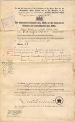 Image of Case 6213 1. Order of detention in an Industrial School 26 November 1897  page 1