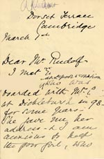 Image of Case 6351 12. Letter from Mrs Brandreth, Sec. of Rose Cottage Home For Girls to Edward Rudolf 1 March 1904  page 1