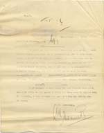 Image of Case 6424 21. Copy letter to Miss Snowden about visiting A's aunt  August 1902  page 1