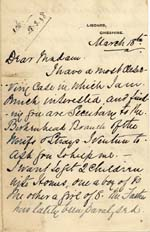 Image of Case 6428 2. Letter from Mrs S. seeking help for J. and his sister  18 March [1898]  page 1