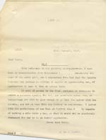 Image of Case 8587 19. Copy letter to Miss B. concerning E's apprenticeship  18 January 1910  page 1