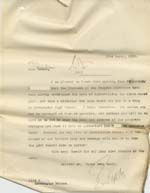 Image of Case 8587 28. Copy letter to Miss B. asking her to arrange for E. to begin her apprenticeship  22 March 1910  page 1