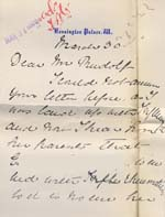 Image of Case 8587 30. Letter from Miss B. to Revd Edward Rudolf discussing E's case  30 March 1910  page 1