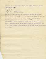 Image of Case 8625 10. Extract of a letter reporting that E. was returning to the Home having lost her situation  14 April 1908  page 1
