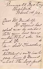 Image of Case 8645 13. Letter from the Honorary Secretary of the Runwell Home about H's behaviour  1 March 1902  page 1