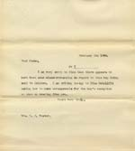 Image of Case 8723 8. Copy letter to Miss Foster  3 February 1902  page 1