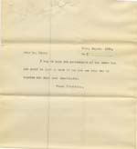 Image of Case 8723 15. Copy letter to Mr Kirby of the Pimlico House Boy Brigade  25 August 1902  page 1