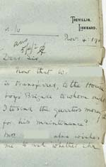 Image of Case 8723 18. Letter from Miss Foster concerning maintenance  4 November 1902  page 1