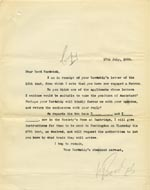 Image of Case 9146 7. Copy letter to the Earl of Sandwich from the Society  17 July 1905  page 1