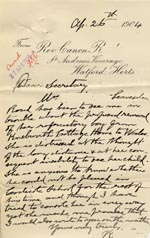 Image of Case 9288 7. Letter from Revd R. concerning G's mother's distress at the child's proposed move to Dolgellau  26 April 1904  page 1