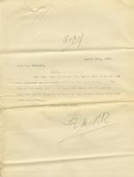 Image of Case 9288 11. Copy letter from Revd Edward Rudolf about G's discharge  29 April 1904  page 1