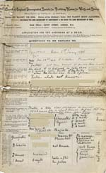 Image of Case 9308 1. Application to the Waifs and Strays' Society  13 November 1902  page 1