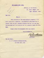 Image of Case 9308 15. Letter from Gordon Boys Homeasking if J. is at all (quote)feeble minded(unquote)  14 February 1910  page 1