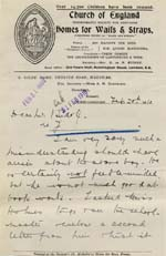 Image of Case 9308 17. Letter from St Giles Home stating that J. is not (quote)feeble minded(unquote)  20 February 1910  page 1