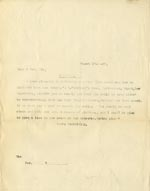 Image of Case 9309 15. Copy letter to Revd B. informing him that a place had been found for M.  13 March 1903  page 1