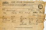 Image of Case 9315 10. Telegram from the Worksop Union stating that M. and H. can be sent to St Michael's  10 December 1902  page 1