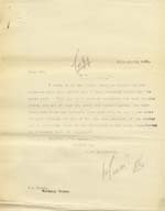 Image of Case 9315 15. Copy letter to the Worksop Union  13 April 1905  page 1