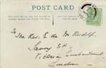 Image of Case 9315 24. Card confirming M's arrival at the St Barnabas Home  1 May 1905  page 1
