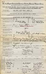 Image of Case 9316 1. Application to Waifs and Strays' Society  27 December 1902 [It seems likely that this date should be 27 November 1902]  page 1