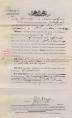 Image of Case 9316 12. Certified Industrial School Order of Detention for M.  10 December 1902  page 1