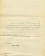 Image of Case 9316 21. Copy letter informing the Worksop Union  20 April 1905  page 1