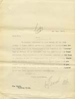 Image of Case 9316 25. Copy letter to the Worksop Union discussing obtaining the sanction of the Local Government Board before M's removal to the St Barnabas Home  1 May 1905  page 1