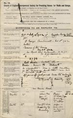 Image of Case 9402 1. Application to the Waifs and Strays' Society  14 January 1903  page 1