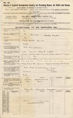Image of Case 9467 1. Application to Waifs and Strays' Society  25 February 1903  page 1