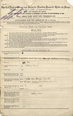 Image of Case 9498 1. Application to the Waifs and Strays' Society  7 February 1903  page 1