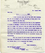 Image of Case 9498 10. Letter from the Devizes Union about the status of St Martin's Home  28 August 1903  page 1