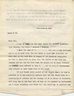 Image of Case 9498 28. Copy letter from the Revd Edward Rudolf explaining to the Devizes Union the difficulties that A. has faced finding a situation because of his disability and asking if they could continue maintenance payments  28 October 1910  page 1