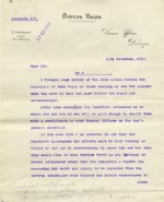 Image of Case 9498 29. Letter from Devizes Union asking to know if there is any problem other than his requiring an artificial leg which has kept A. from finding a situation  11 November 1910  page 1