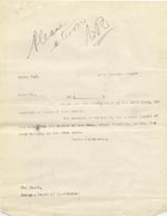 Image of Case 9498 30. Copy letter from Revd Edward Rudolf acknowledging the above letter  12 November 1910  page 1