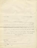 Image of Case 9498 33. Copy letter from Revd Edward Rudolf to the Devizes Union sending them reports on A.  23 November 1910  page 1